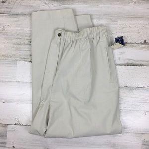NWT Karen Scott II Average Beige Trousers 24W